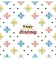 Happy Birthday creative card trendy geometric vector image