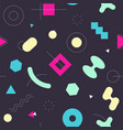 memphis style seamless abstract geomertic pattern vector image