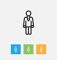 of trade symbol on job person vector image