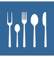 Set of cutlery vector image