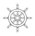 steering wheel outline drawing vector image