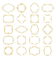 Set collection of ornamental vintage frames vector image