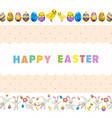 happy easter flyer or concept vector image