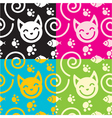 cat background vector image vector image