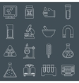 Laboratory equipment icons outline vector image vector image