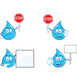 Cartoon droplets vector image vector image