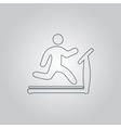 Running treadmill vector image