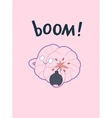 Boom brain poster vector image