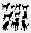 Dog pet animal silhouette 13 vector image