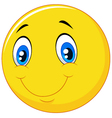 Happy smile emoticon on white background vector image