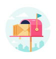 letterbox with envelopes mail box postal vector image