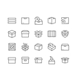 Line Box Icons vector image