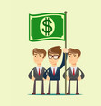 people hold dollar flag vector image