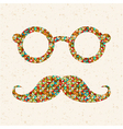retro with hipster glasses mustaches vector image
