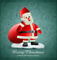 santa clais with bag of gift vector image