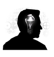 Silhouette of a mans head vector image
