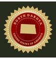 Star label North Dakota vector image