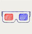 3-D Glasses vector image vector image