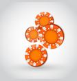 falling poker chips vector image