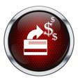 Red honeycomb credit card icon vector image vector image