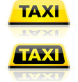 Taxi car roof sign vector image vector image
