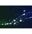 Transparent swoosh bright spark wave vector image vector image