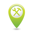 tools icon green map pointer vector image