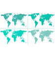Abstract world maps vector image vector image