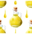 watercolor olive oil pattern vector image