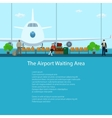 The Airport Waiting Area with People vector image