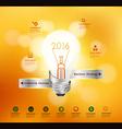 Creative light bulb idea 2016 New Year vector image