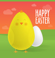 easter egg and a cute chick vector image
