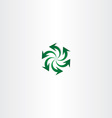 green arrow symbol recycle spiral sign logo vector image