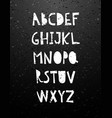 hand cut calligraphy lettering alphabet vector image