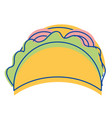 mexican tacos fast food icon vector image