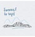 Poster forward to tops Mountains logo vector image