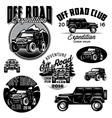 templates for SUVs off-road sport club vector image