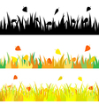 The set seamless of autumn the grass vector image