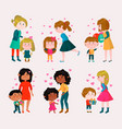 valentines day loving family mothers day vector image