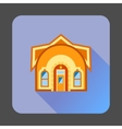 Little fairy house icon flat style vector image