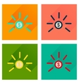 Concept of flat icons with long shadow dollar cent vector image