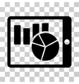 Charts On PDA Icon vector image