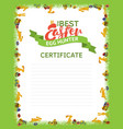 the best easter egg hunter certificate template a vector image