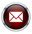 Red honeycomb mail icon vector image vector image