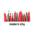 modern city with colored skyscrapers vector image