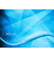 Abstract blue waves design vector image vector image