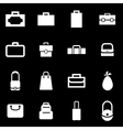 white bag icon set vector image