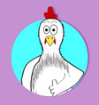 chicken approval icon app animal avatar vector image