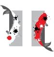 Couple of koi carp vector image