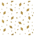 Geometric grunge gold seamless pattern of rhomb vector image